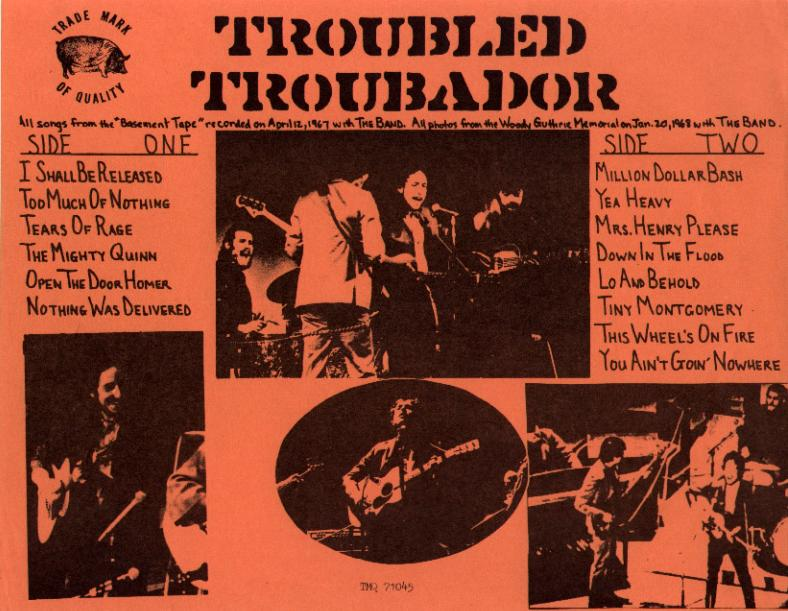 Bob Dylan Troubled Troubadour