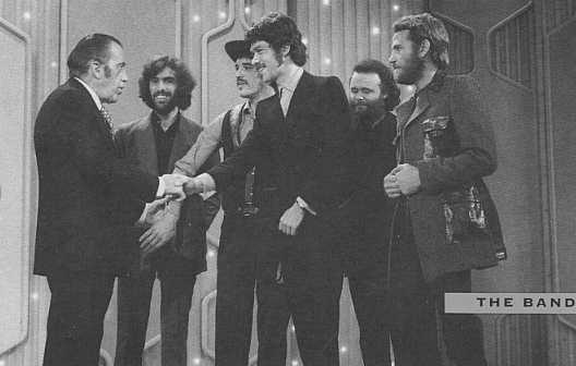 [Photo of The Band and Ed Sullivan