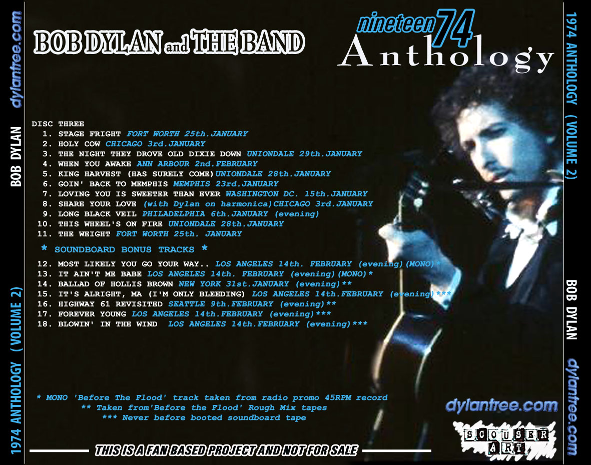 bob dylan and the band 1974 anthology