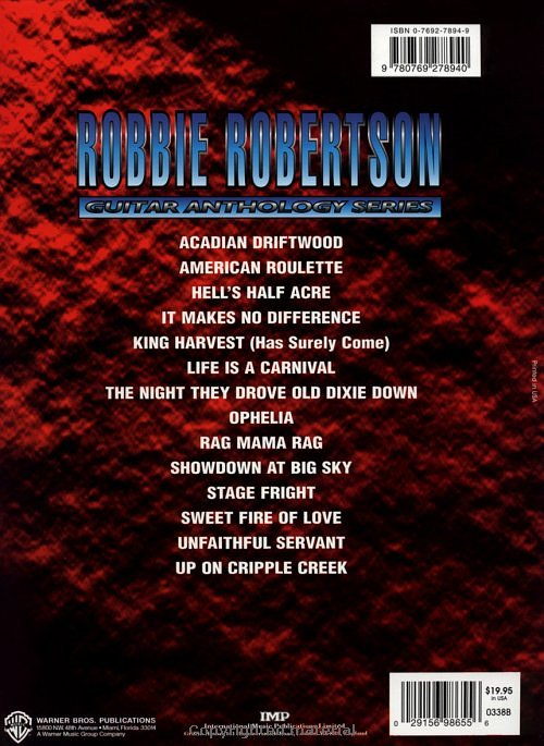 Sheet Music: Robbie Robertson